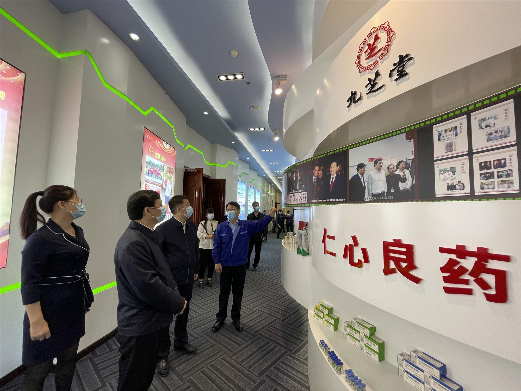 牡丹江市市委书记杨廷双走访友搏药业